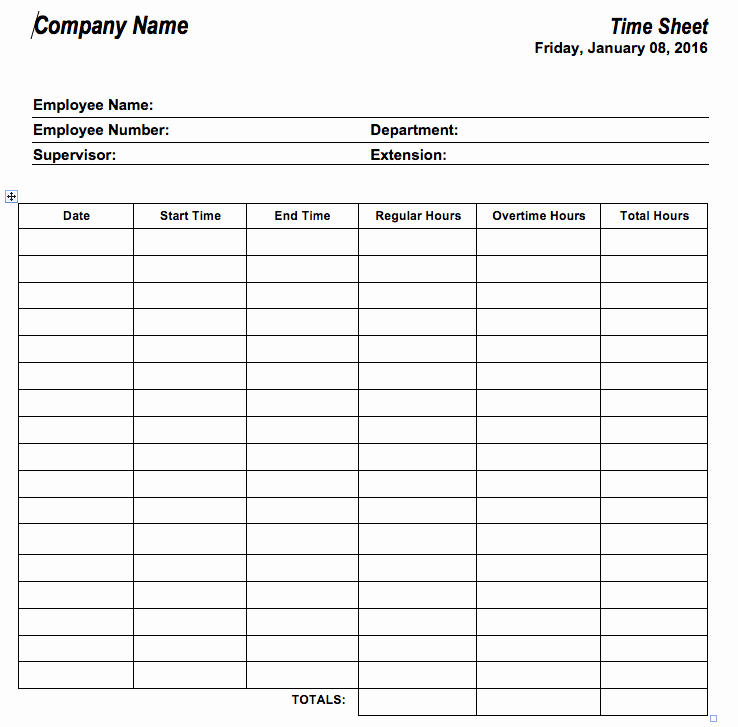 Employee Time Tracking Template Unique 6 Free Timesheet Templates for Tracking Employee Hours