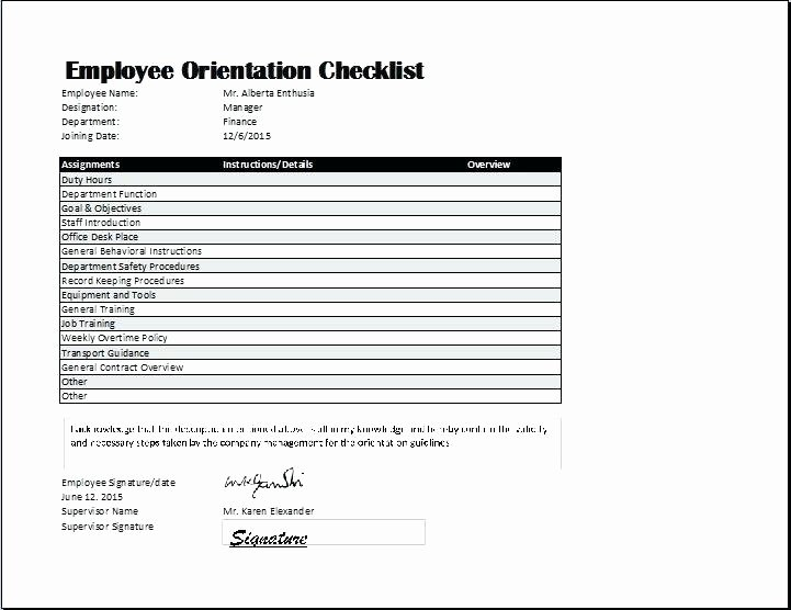 Employee Training Checklist Template Awesome Employee Training Checklist Template Excel Best S