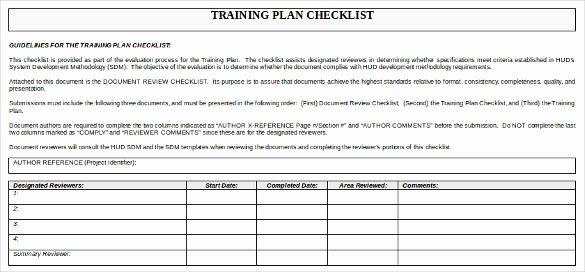 Employee Training Checklist Template Unique Training Checklist Template 15 Free Word Excel Pdf