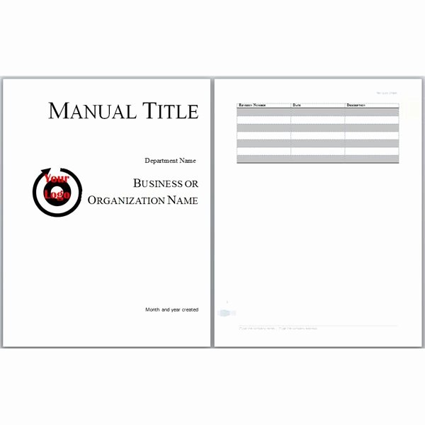 Employee Training Manual Template Awesome Microsoft Word Manual Template Basic and Employment