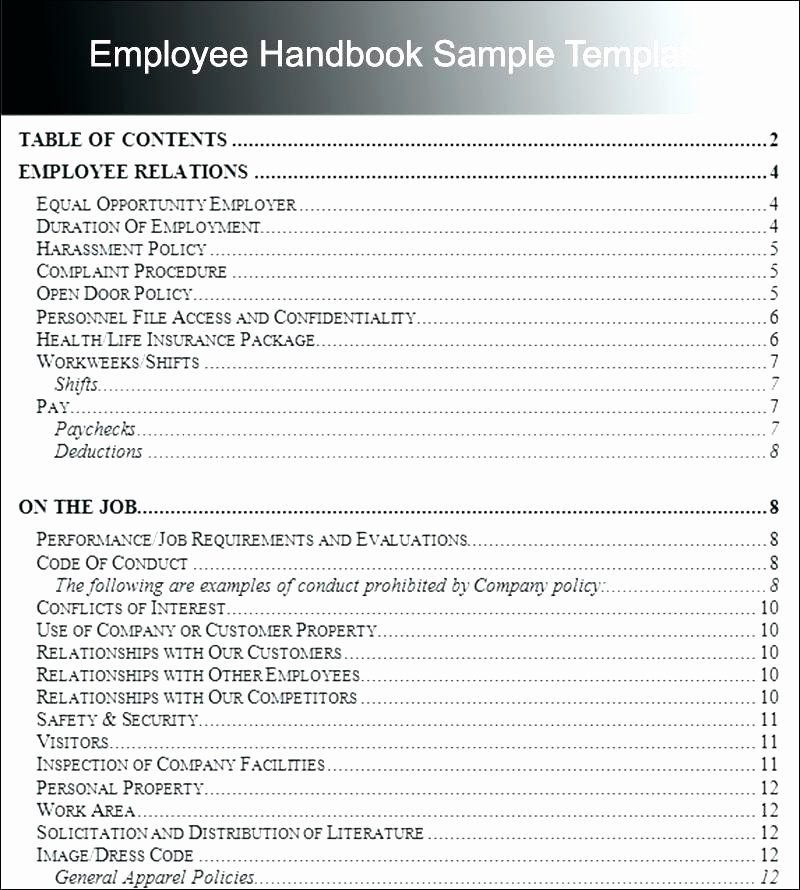 Employee Training Manual Template Beautiful Pany Policies and Procedures Template – Royaleducationfo