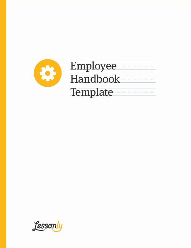 Employee Training Manual Template Elegant Free Employee Handbook Template Lessonly
