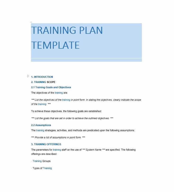 Employee Training Manual Template Elegant Training Manual 40 Free Templates & Examples In Ms Word