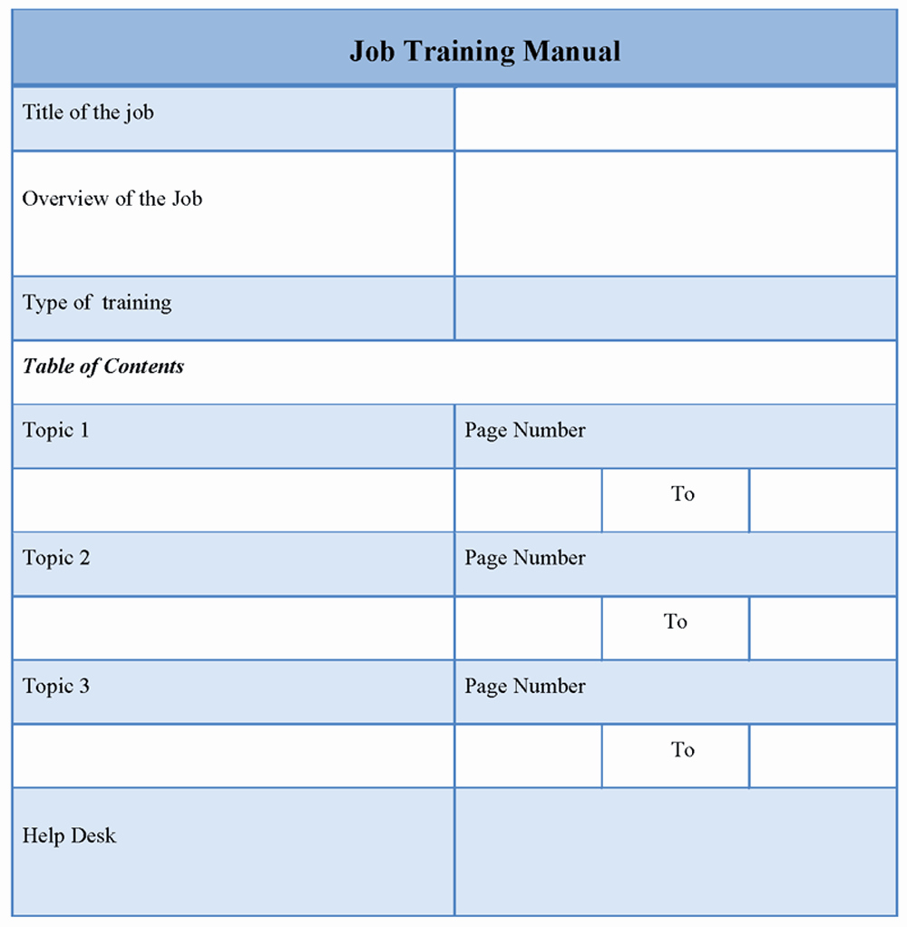 Employee Training Manual Template Unique Training Template