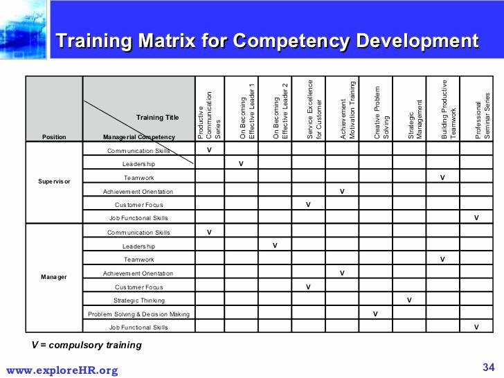 Employee Training Matrix Template Excel New Training Matrix Excel Employee Skills Petency Template