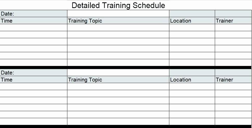 Employee Training Plan Template Beautiful Template Training Schedule Template In Excel