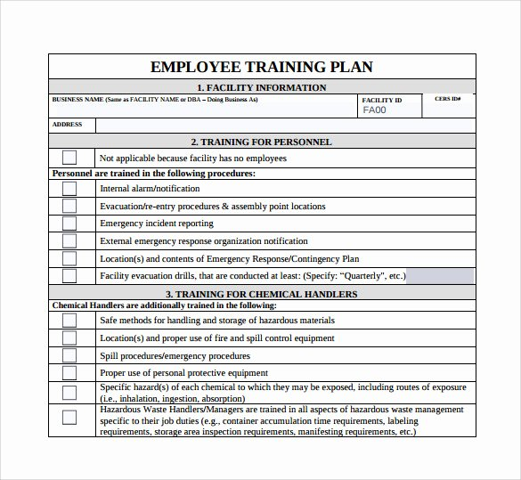 Employee Training Plan Template Beautiful Training Plan Template 19 Download Free Documents In