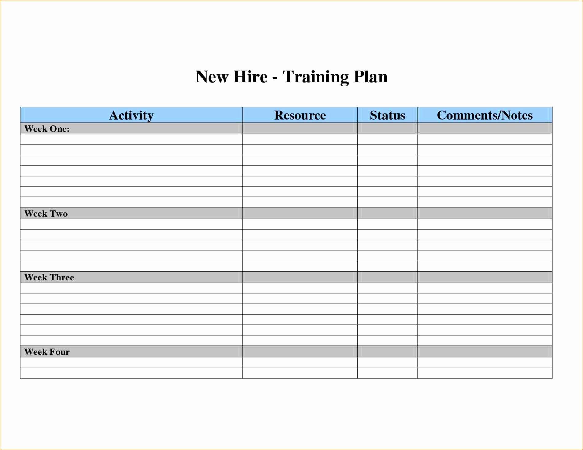 Employee Training Plan Template Best Of Sample Employee Development Plan Examples