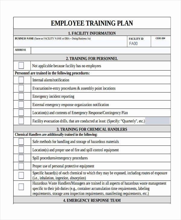 Employee Training Plan Template Elegant 8 Training Plan Examples Samples