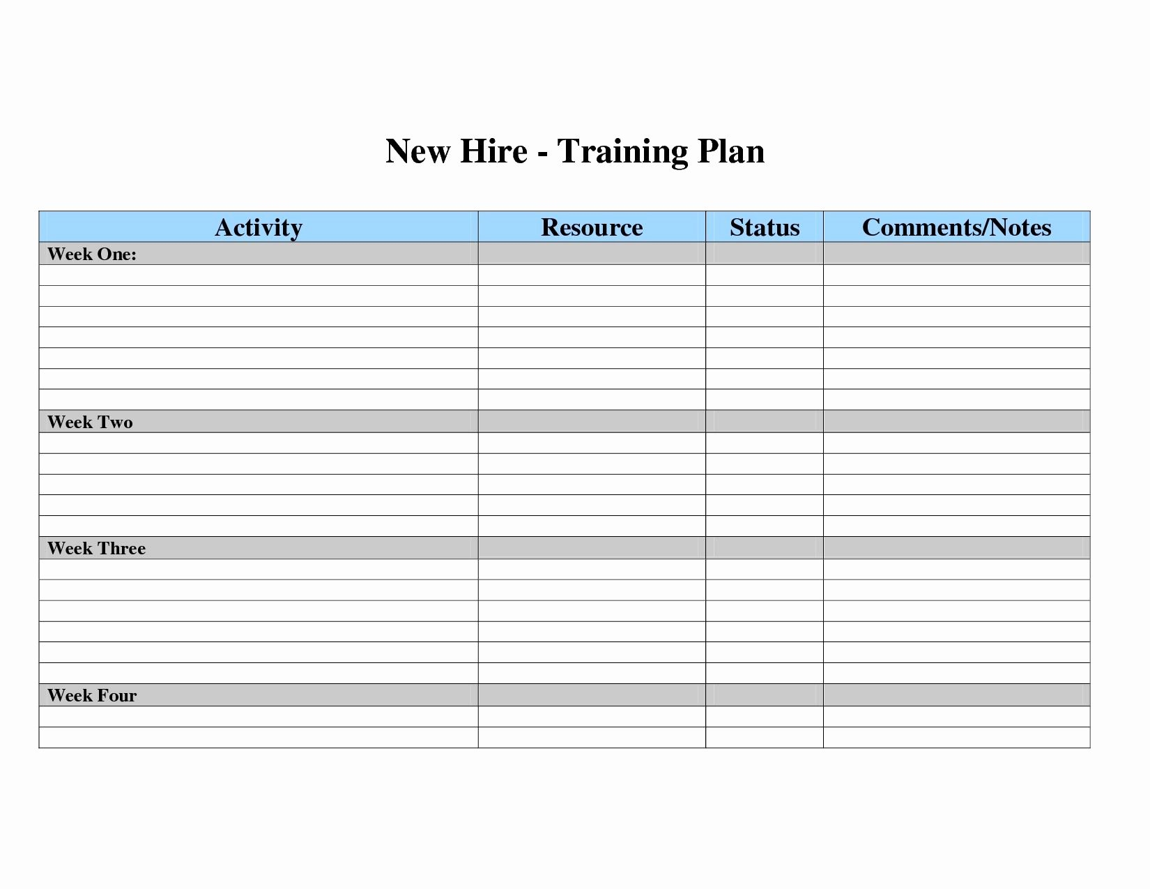 Employee Training Plan Template Excel Awesome Employee Training Class Schedule Template Employee