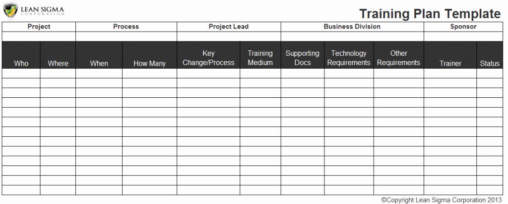 Employee Training Plan Template Excel Inspirational Employee Training Plan Excel Template Staff Training