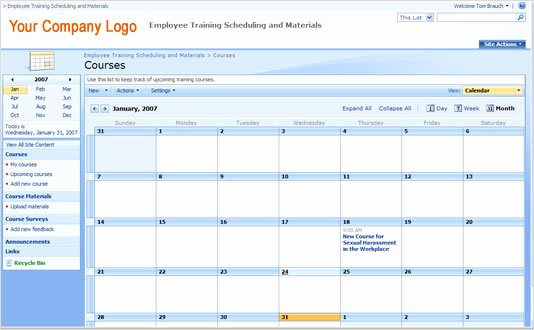 Employee Training Plan Template Excel Inspirational Employee Training Schedule Template In Ms Excel Excel