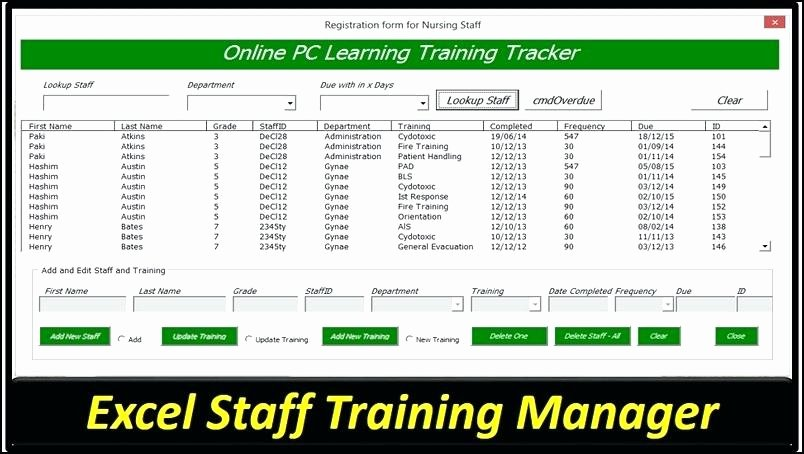 Employee Training Plan Template Excel Lovely Employee attendance Sheet In Excel Free Download Training