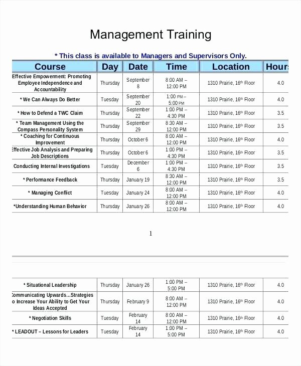Employee Training Plan Template Excel Luxury Training Timetable Template – Flybymedia