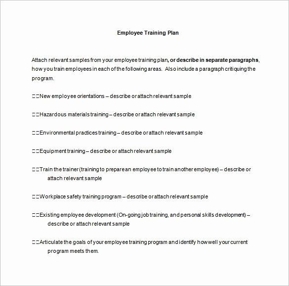 Employee Training Plan Template Inspirational 11 Training Plan Templates Word Pdf