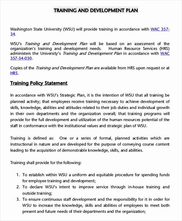 Employee Training Plan Template Inspirational 5 Employee Training Plan Templates Free Samples