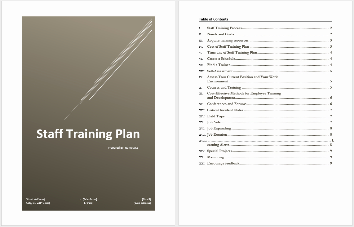 Employee Training Plan Template Word Awesome New Employee Training Plan Template Excel How to Create