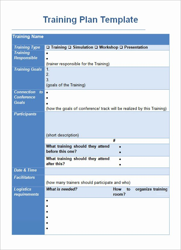Employee Training Plan Template Word Awesome Training Plan Template 16 Download Free Documents In