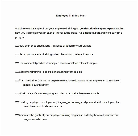 Employee Training Plan Template Word Inspirational 11 Training Plan Templates Word Pdf