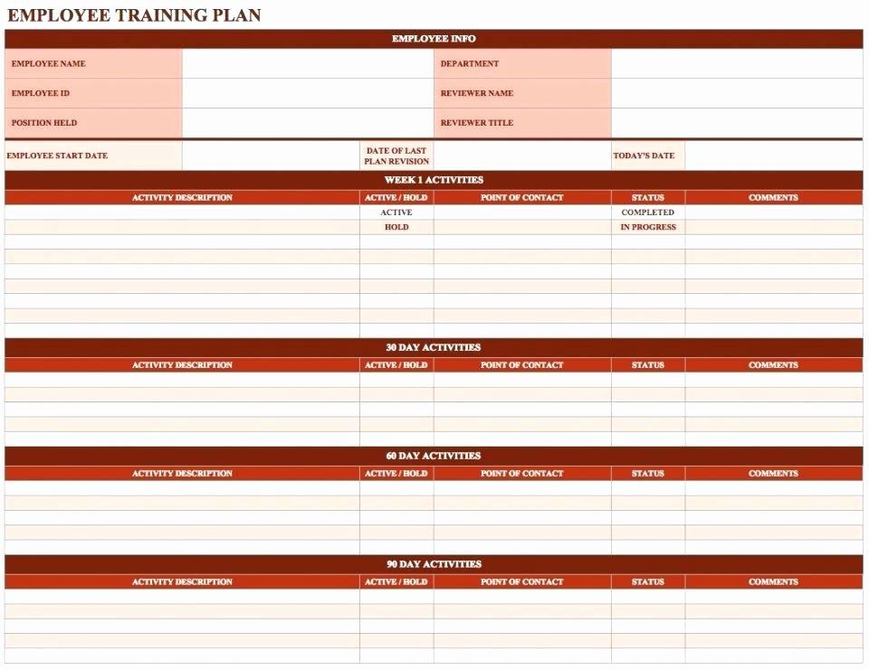 Employee Training Plan Template Word Lovely New Employee Training Schedule Template Word – asctech