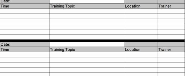 Employee Training Plan Template Word Luxury Employee Training Schedule Template In Ms Excel Excel