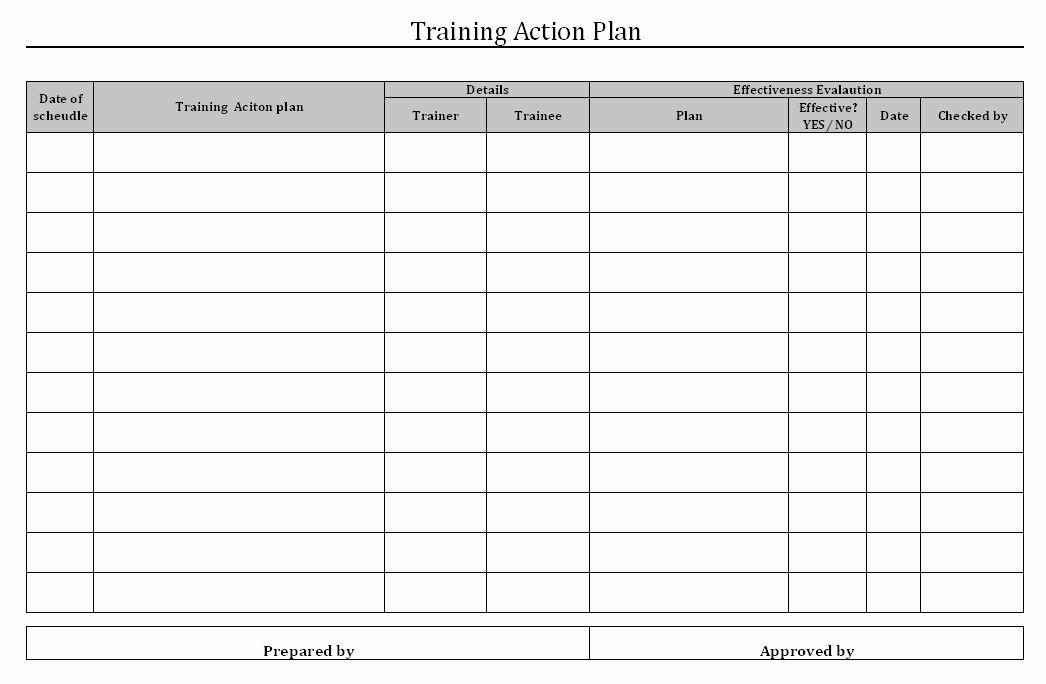 Employee Training Plan Template Word New Employee Training Plan Template
