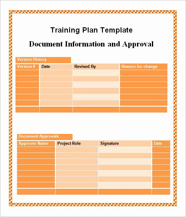Employee Training Plan Template Word New Training Plan Template 19 Download Free Documents In