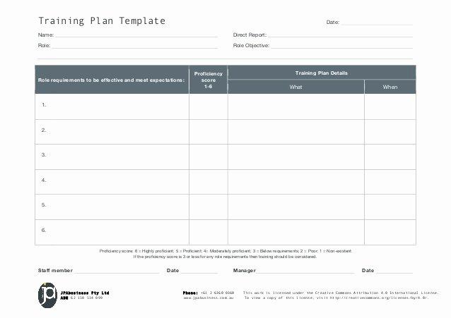 Employee Training Program Template Awesome Jpabusiness Staff Training Plan Template