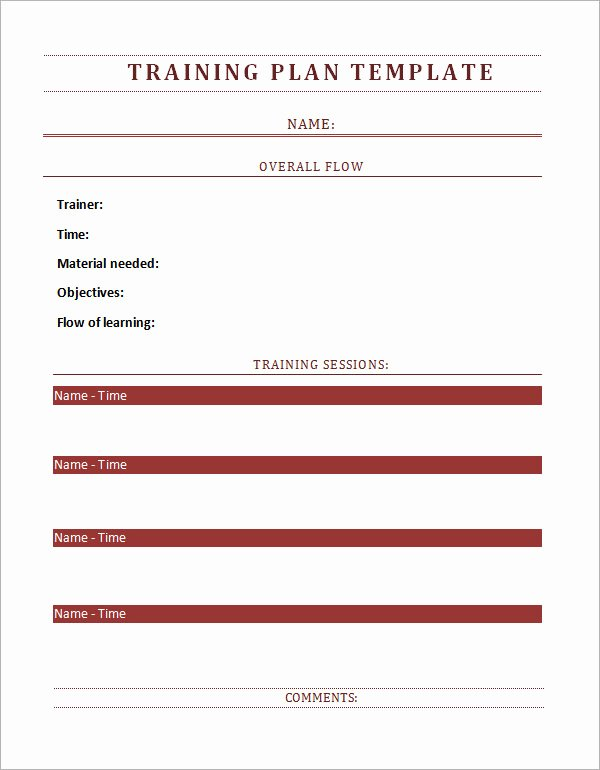 Employee Training Program Template Lovely Training Plan Template 19 Download Free Documents In