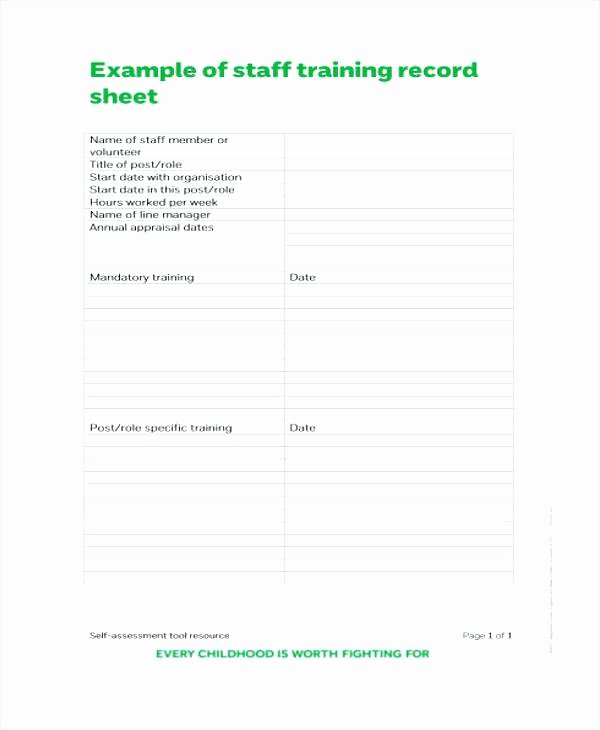 Employee Training Record Template Excel Best Of Training Record Template Staff Log Free Employee Excel