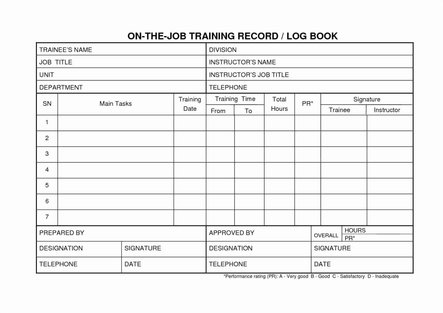 Employee Training Record Template Excel New Employee Training Record Template Excel Luxury Template