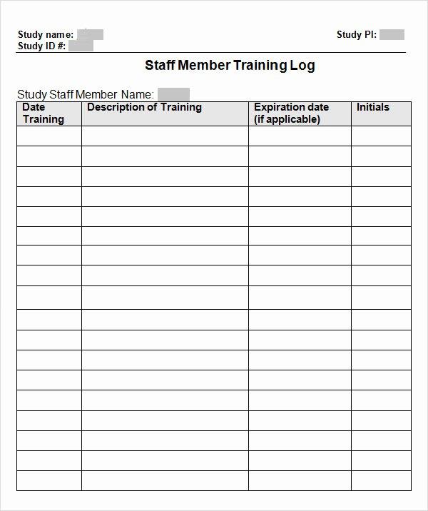 Employee Training Records Template Awesome Employee Training Record Template Excel