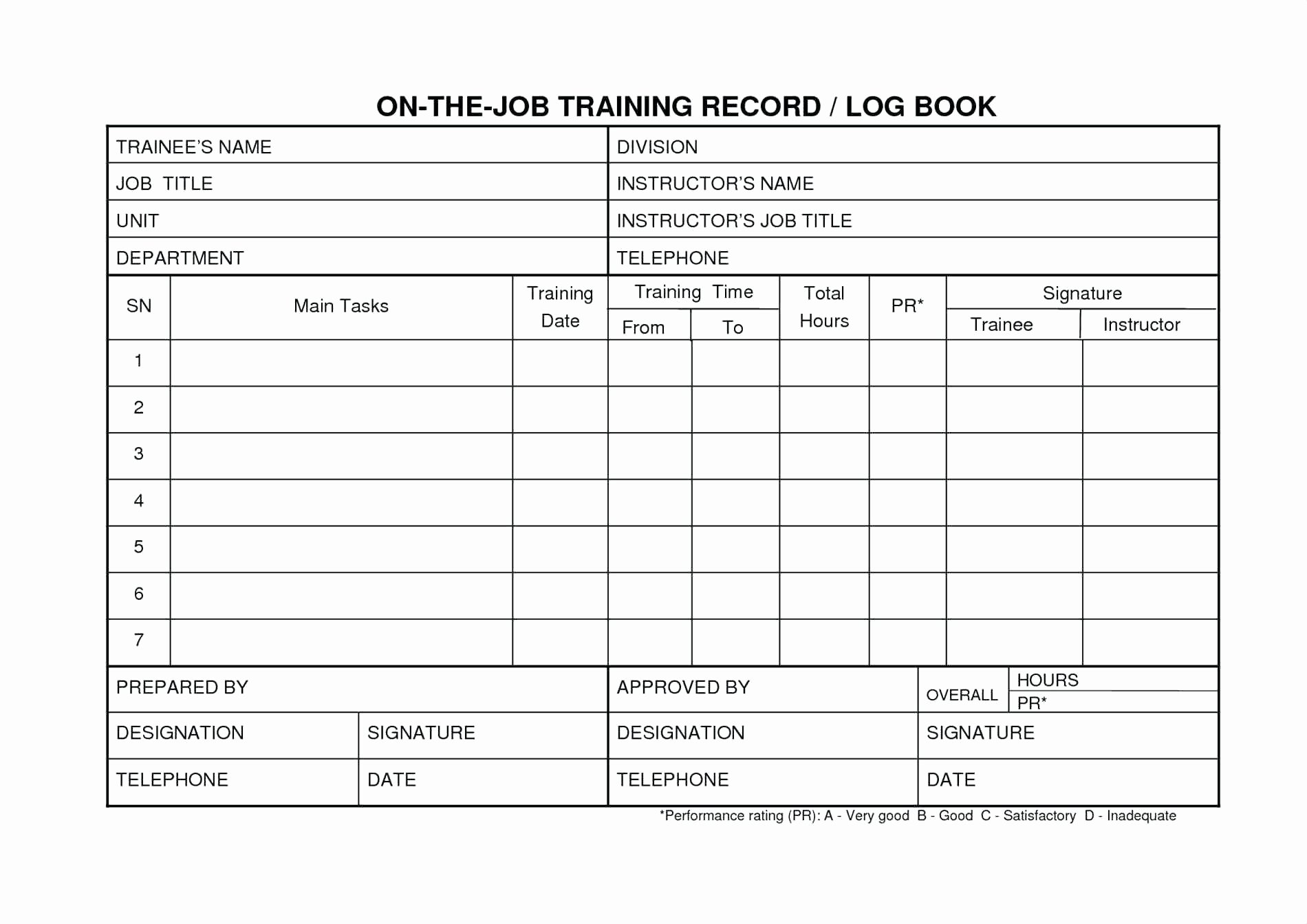Employee Training Records Template Lovely the Job Training Template