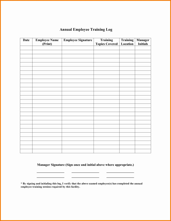 Employee Training Records Template Unique Microsoft Employee Training Record Template to