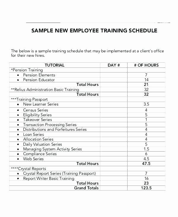 Employee Training Schedule Template Excel Beautiful Training Plan Outline Template – Ijbcr