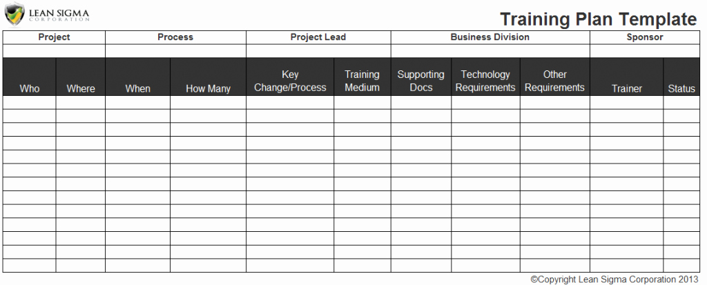 Employee Training Schedule Template Excel Elegant Employee Training Plan Excel Template Staff Training
