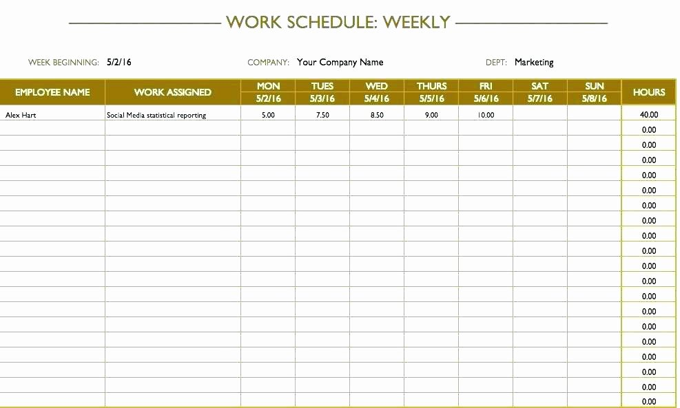 Employee Training Schedule Template Excel Inspirational Employee Cross Training Template – Flybymedia