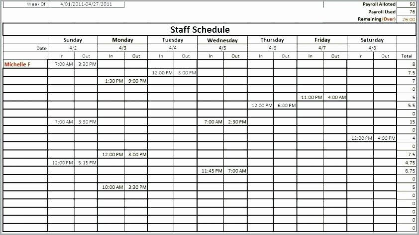 Employee Training Schedule Template Excel New Employee Shift Schedule Template Excel Training Staffing