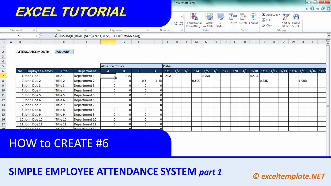 Employee Vacation Tracker Template Beautiful How to Create A Simple Excel Employee attendance Tracker