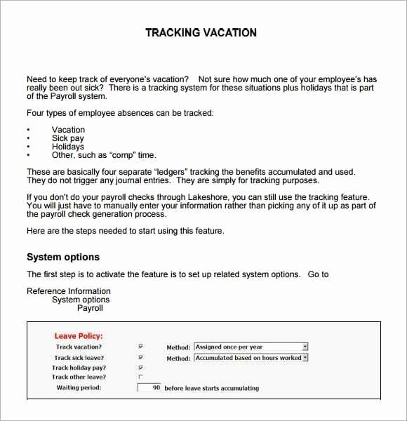Employee Vacation Tracker Template Fresh 9 Employee Vacation Tracker Templates Excel Templates