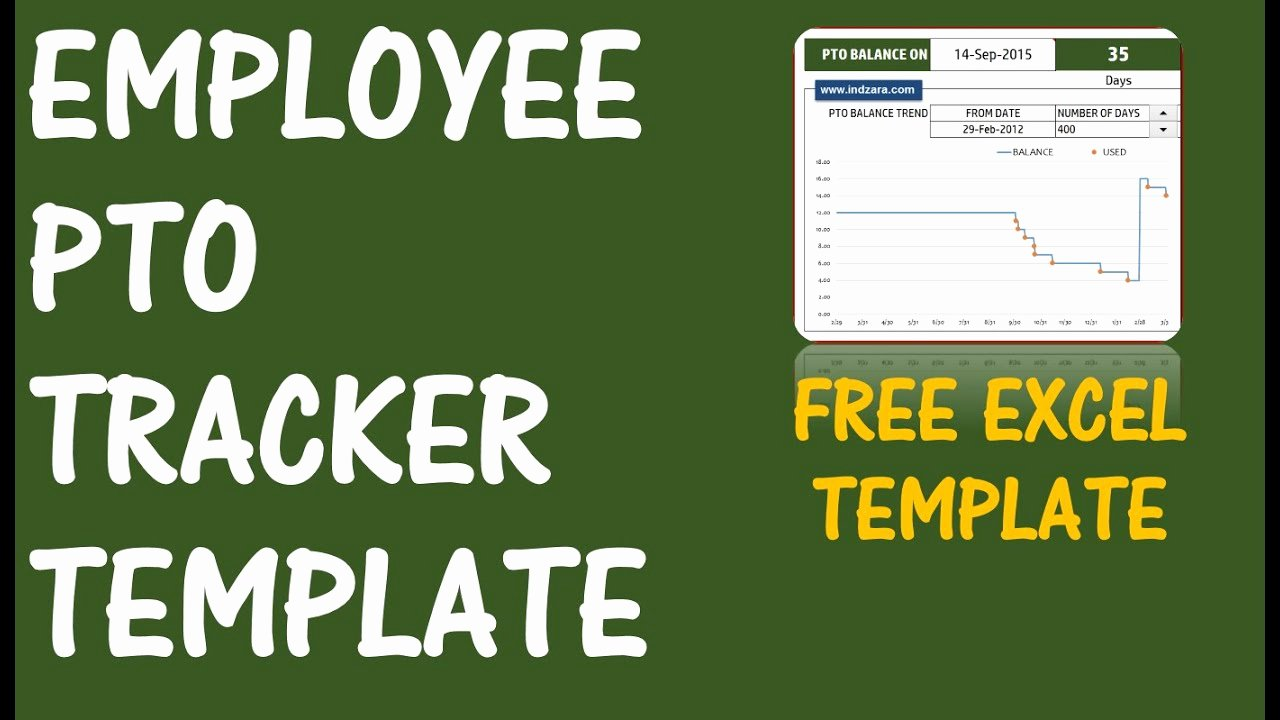 Employee Vacation Tracker Template Fresh Pto Calculator Excel Template Employee Pto Tracker