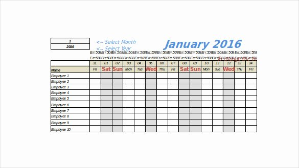 Employee Vacation Tracker Template Lovely 7 Vacation Tracking Templates Free Sample Example