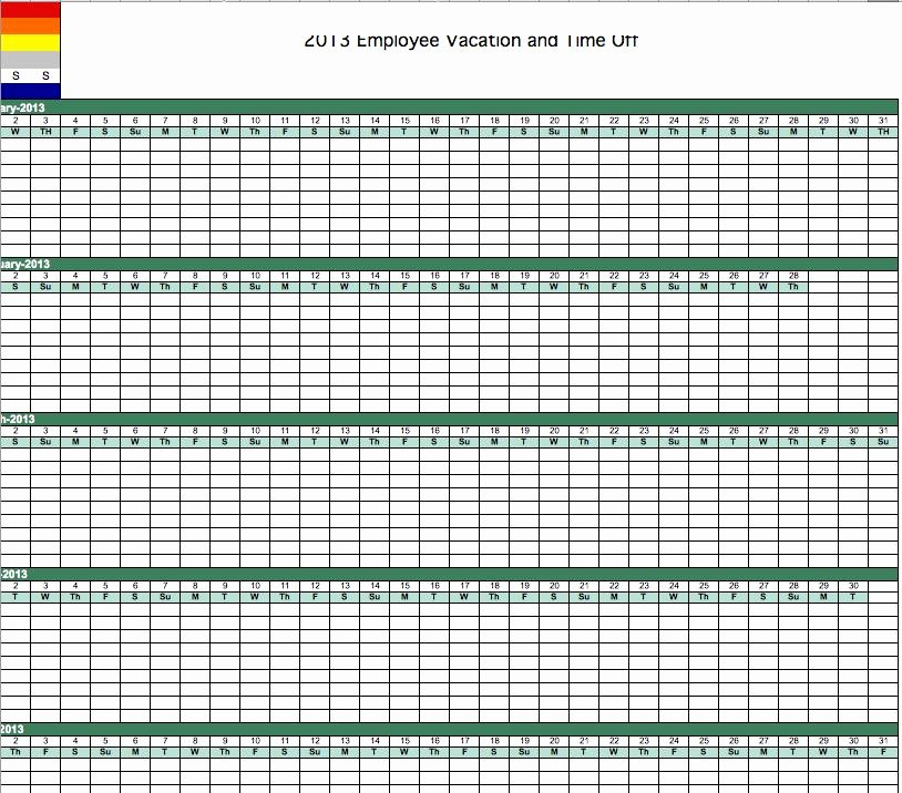 Employee Vacation Tracker Template Lovely Excel Vacation Calendar Template