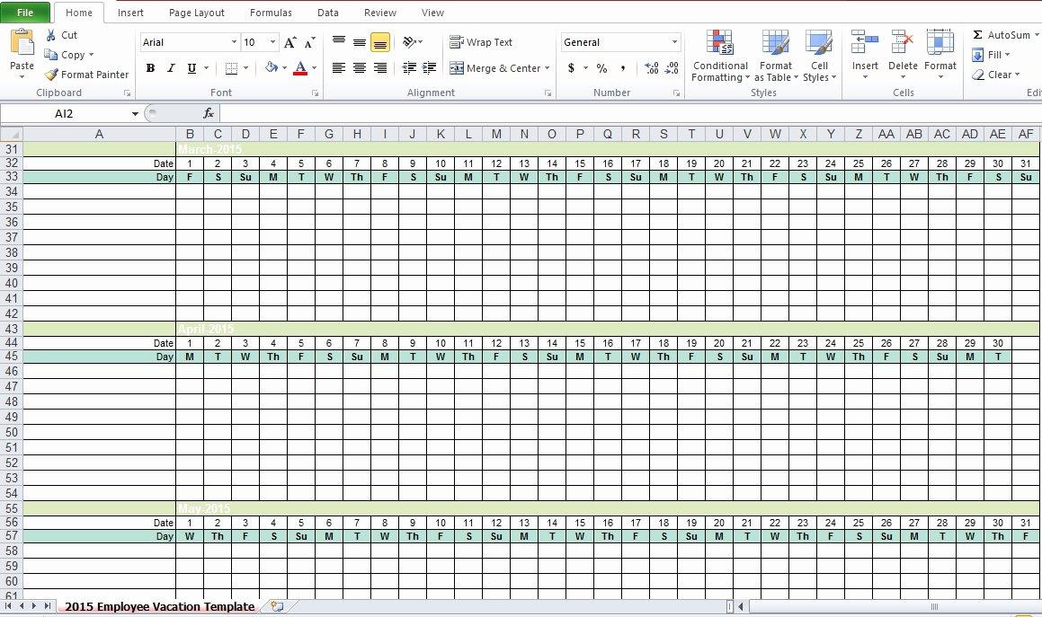 Employee Vacation Tracker Template Luxury Employee Vacation Tracking Excel Template 2015 Excel Tmp