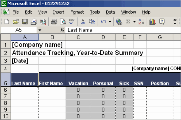 Employee Vacation Tracker Template Unique 13 attendance Tracking Templates Excel Pdf formats