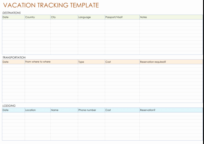 Employee Vacation Tracking Template Fresh 5 Best Vacation Tracking Templates to Track Your Vacations