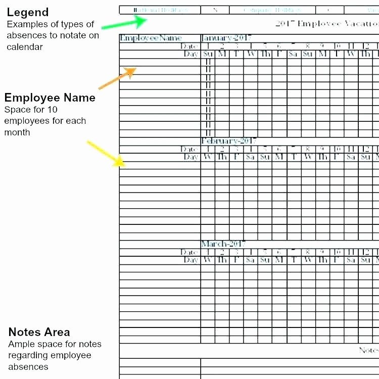 Employee Vacation Tracking Template Lovely Employee Vacation Tracker Excel Template 2017 Employee