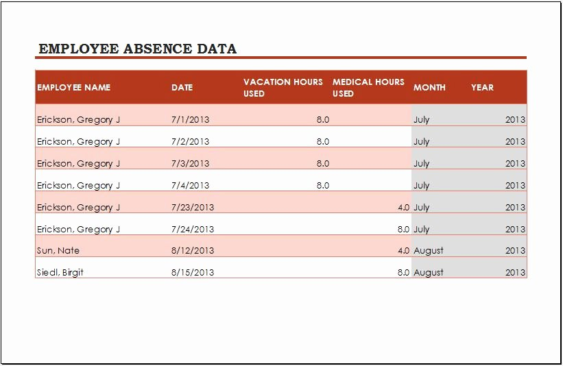 Employee Vacation Tracking Template New Employee Vacation Tracker Template for Ms Excel