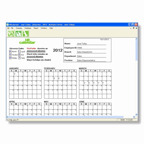 Employee Vacation Tracking Template Unique 2013 Employee Vacation Tracking Calendar Template