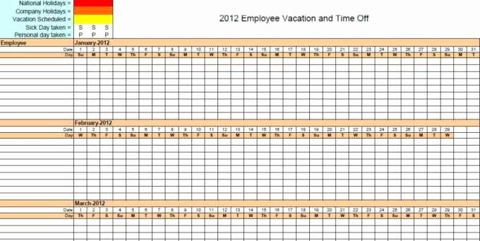 Employee Vacation Tracking Template Unique 9 Employee Vacation Tracker Templates Excel Templates